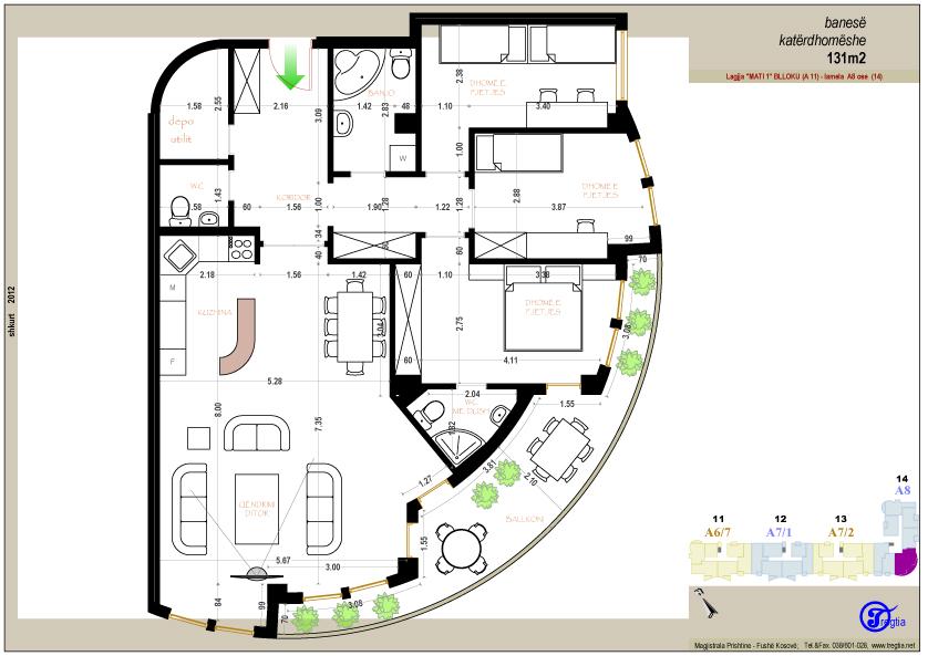 Banesa katerdhomeshe 131 m2